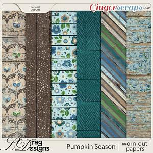 Pumpkin Season: Worn Out Papers by LDragDesigns