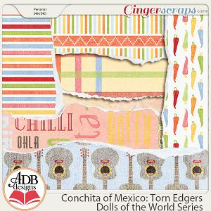 Conchita Torn Edge Borders {DOTW Mexico} by ADB Designs