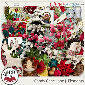 Candy Cane Lane Elements by ADB Designs
