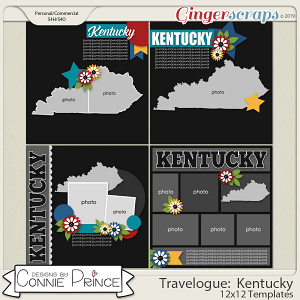 Travelogue Kentucky - 12x12 Temps (CU Ok) by Connie Prince