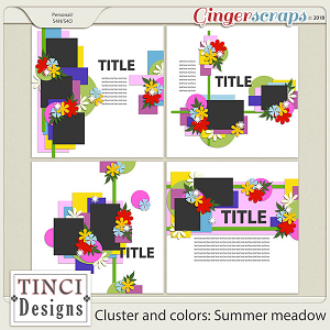 Cluster and colors: Summer meadow