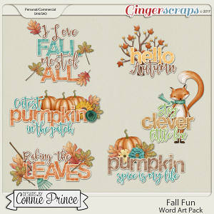 Fall Fun - Word Art Pack