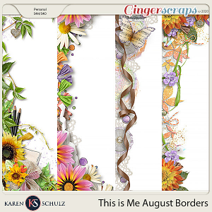 This is Me August Borders by Karen Schulz
