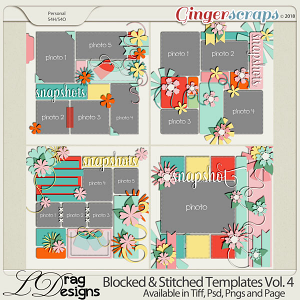 Blocked & Stitched Templates Vol.4 by LDragDesigns