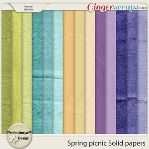 Spring picnic Solid papers