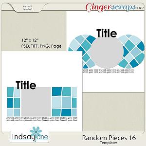 Random Pieces 16 Templates by Lindsay Jane