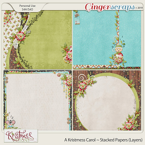 A Kristmess Carol Stacked Papers (Layers)