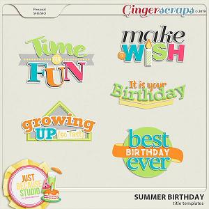 Summer Birthday Title Templates by JB Studio