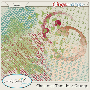 Christmas Traditions Grunge