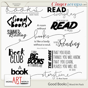 Good Books Word Art