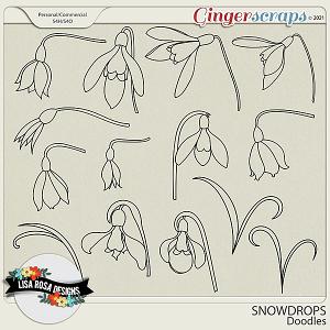 Snowdrops CU/PU Doodles by Lisa Rosa Designs