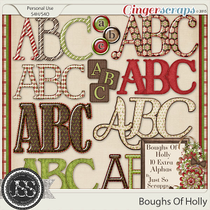 Boughs Of Holly Alphabets