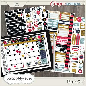 Rock On Planner Pieces - Scraps N Pieces