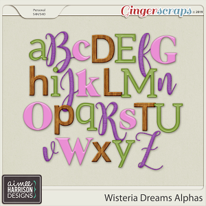 Wisteria Dreams Alpha Sets by Aimee Harrison