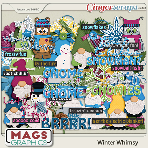 Winter Whimsy ELEMENTS by MagsGraphics