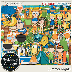 Summer Nights KIT by Heather Z Scraps