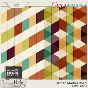 Farm to Market Road Extra Papers by Aimee Harrison and Tami Miller Designs