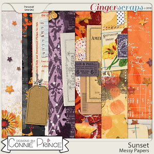 Sunset - Messy Papers by Connie Prince