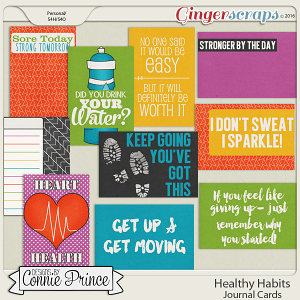 Healthy Habits - Journal Cards