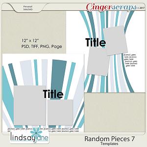 Random Pieces 7 Templates by Lindsay Jane