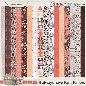 We'll Always Have Paris Papers by JoCee Designs