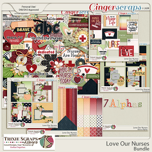 Love Our Nurses Value Bundle by Trixie Scraps Designs