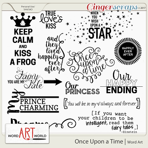 Once Upon a Time Word Art
