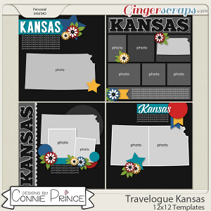 Travelogue Kansas - 12x12 Temps (CU Ok) by Connie Prince