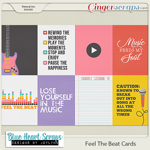 Feel The Beat Journal Cards