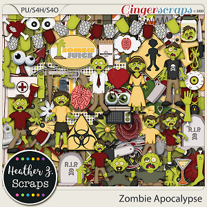 Zombie Apocalypse KIT by Heather Z Scraps