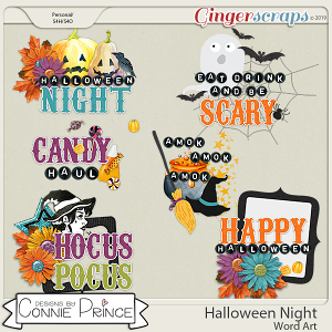 Halloween Night - Word Art Pack by Connie Prince