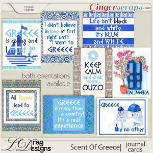 Scent Of Greece: Journal Cards by LDragDesigns