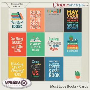 Must Love Books - Cards by Aprilisa Designs