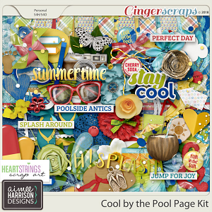 Cool By the Pool Page Kit by Aimee Harrison and HSA