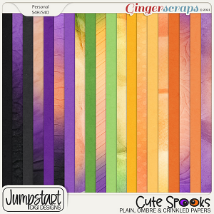 Cute Spooks {Plain, Ombre & Crinkled Papers}