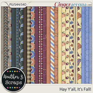Hay Y'all, It's Fall PAPERS by Heather Z Scraps