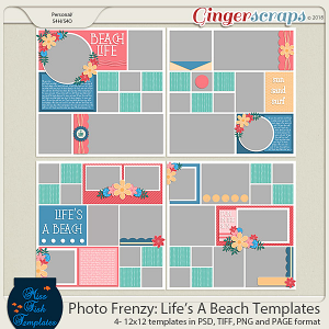 Photo Frenzy: Life's A Beach Templates by Miss Fish