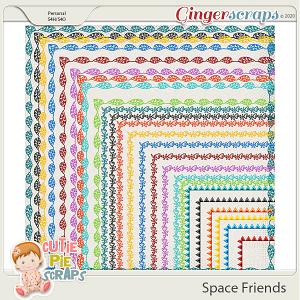 Space Friends Page Borders By Cutie Pie Scraps