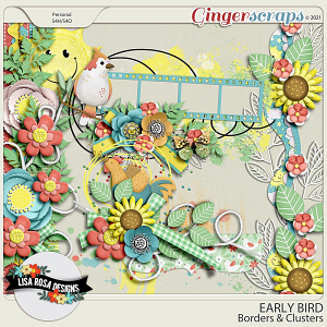 Early Bird - Borders & Clusters by Lisa Rosa Designs
