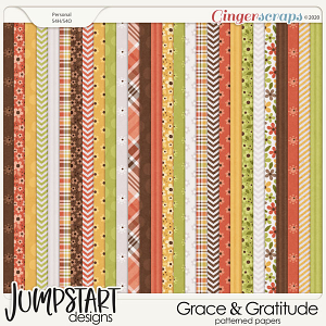 Grace & Gratitude {Patterned Papers}