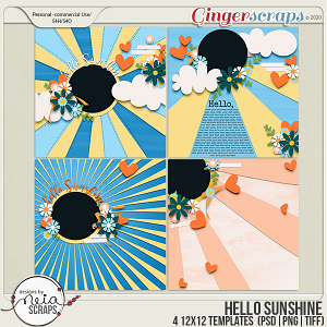 Hello Sunshine - Templates - by Neia Scraps
