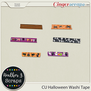 CU Halloween WASHI TAPE by Heather Z Scraps