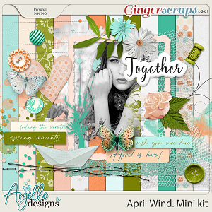 April Wind. Mini kit by Angelle Designs
