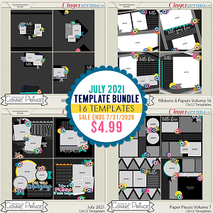 July 2021 Template Bundle by Connie Prince
