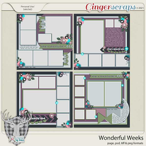 Wonderful Weeks Templates by Dear Friends Designs by Trina