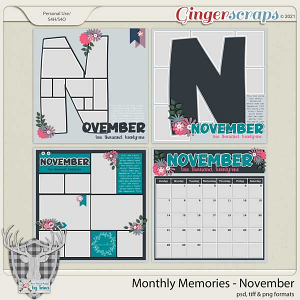 Monthly Memories - November by Dear Friends Designs by Trina