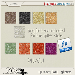 I [Heart] Fall: Glitterstyles by LDragDesigns