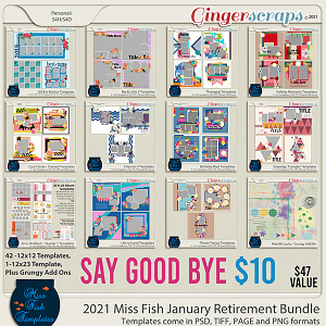 Miss Fish January 2021 Retirement Bundle