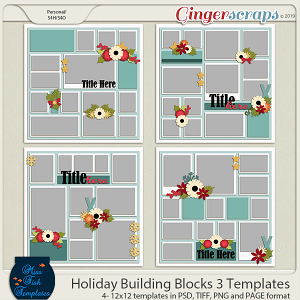 Holiday Building Blocks 3 Templates by Miss Fish