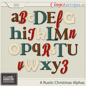 A Rustic Christmas Alpha Sets by Aimee Harrison